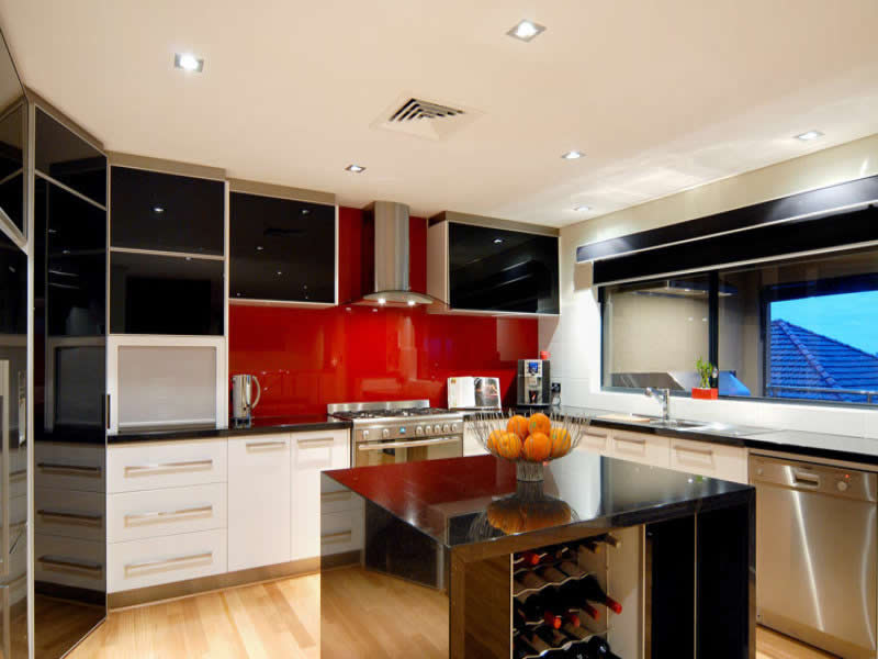 Kitchen interiors maxwell interior designers for Italian kitchen design india