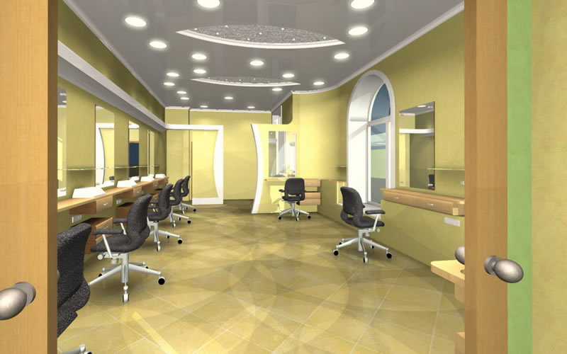 Looking for clinic interior designing and decoration for Hair salon interiors photos