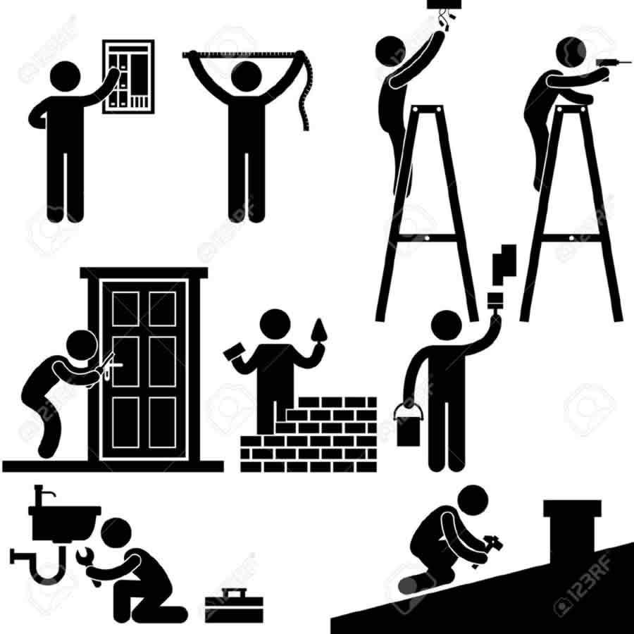 Free House Repair Clip Art with No Background - ClipartKey